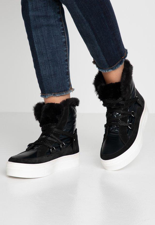 ADELE - Platform ankle boots - nero