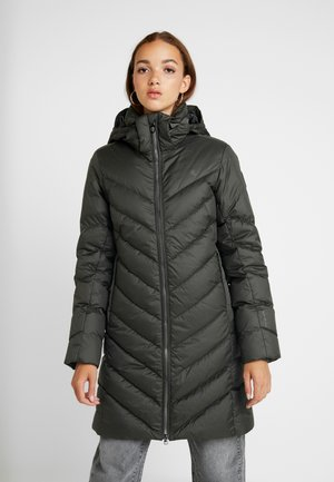 WHISTLER SLIM DOWN HOODED LONG - Down coat - asfalt