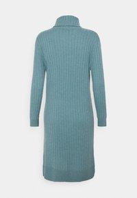 pure cashmere - TURTLENECK DRESS - Jumper dress - steel blue - 1