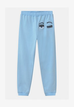 FLIRTING - Tracksuit bottoms - light blue