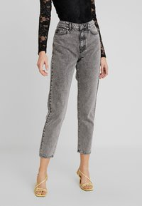 Gina Tricot - DAGNY HIGHWAIST - Relaxed fit jeans - black snow - 0