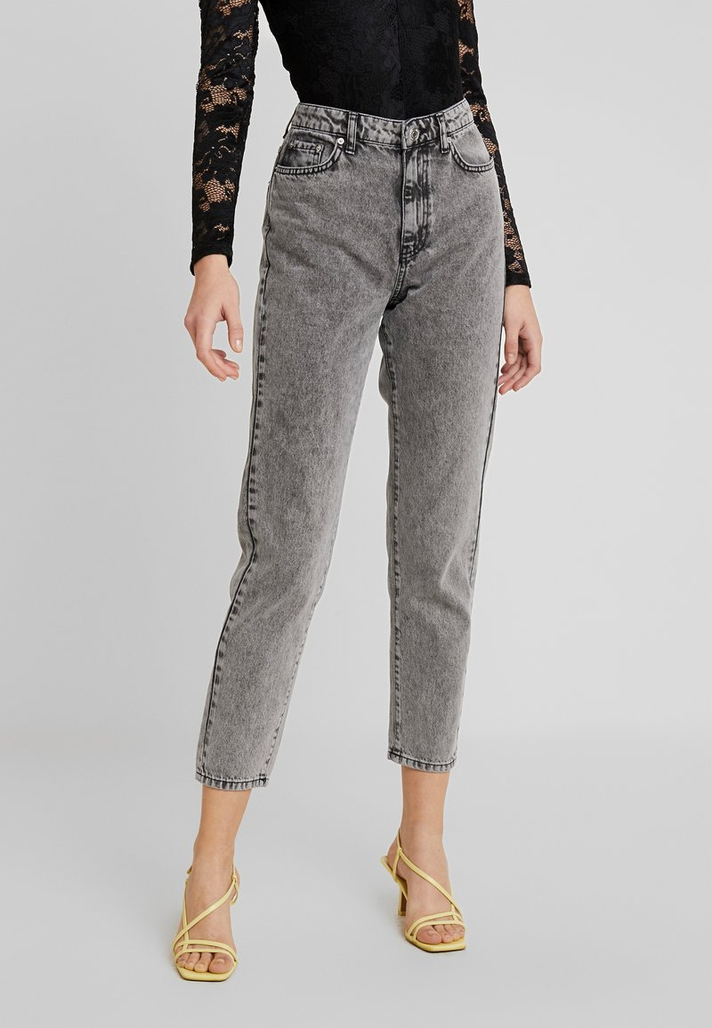 Gina Tricot - DAGNY HIGHWAIST - Relaxed fit jeans - black snow