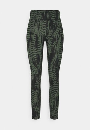 ICONIC PRINTED  - Legging - survive dark green