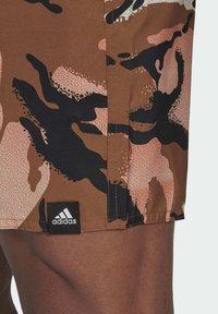 adidas Performance - SHORT-LENGTH GRAPHIC SWIM SHORTS - Swimming shorts - brown - 4