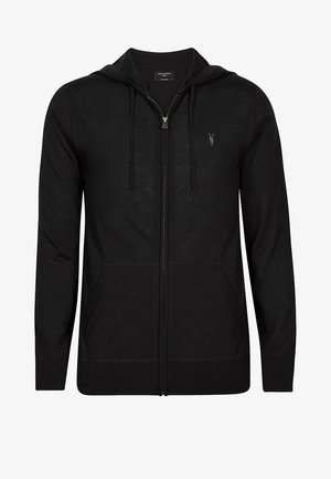 MERINO - Zip-up hoodie - black
