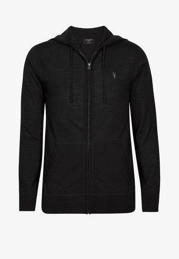 MERINO - Zip-up hoodie - black