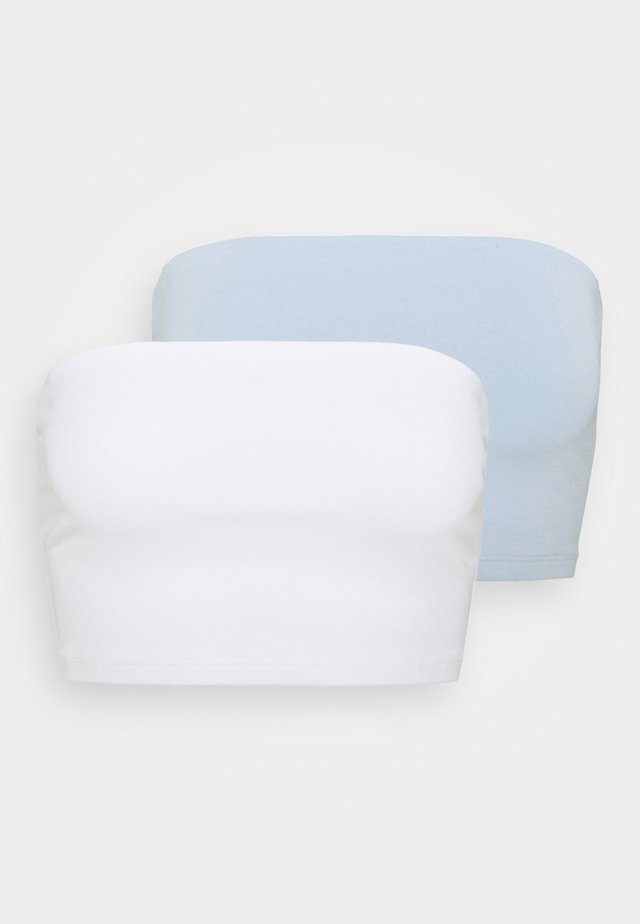 MILABANDEAU 2 PACK - Top - white/skyway