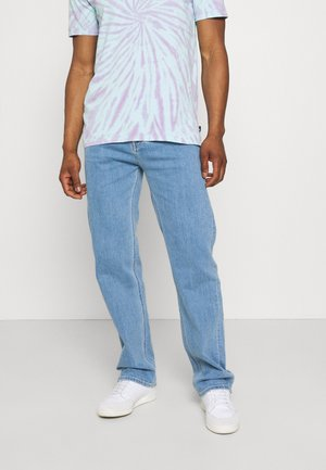90'S STRAIGHT LOGO WAISTBAND - Straight leg -farkut - denim medium