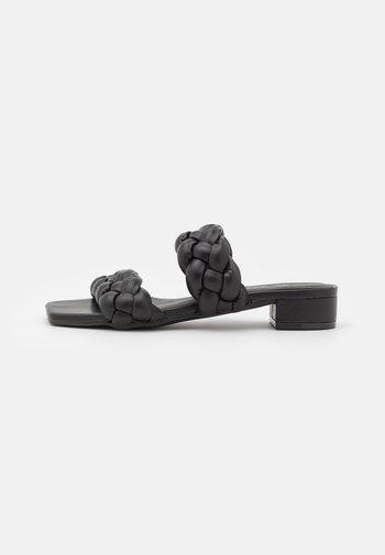 VEGAN IMANI - Mules - black dark
