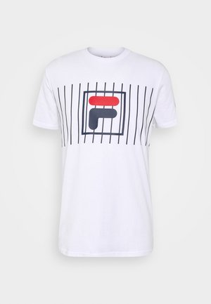 SAUTS TEE - Camiseta estampada - bright white