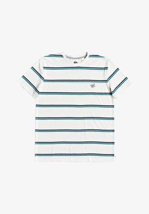 COREKY - Print T-shirt - snow white  mate