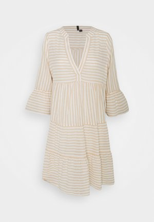 VMISABELL DICTHE 3/4 TUNIC - Day dress - snow white/gold