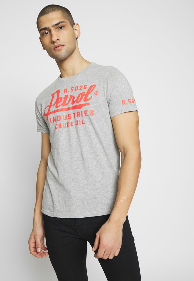 T-shirt con stampa - light grey melange