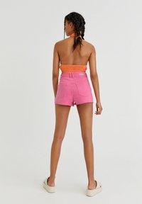PULL&BEAR - Denim shorts - pink - 2