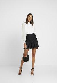 Forever New - OLLIE RUCHED SKIRT - A-line skirt - black - 1