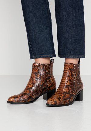 PLAZA - Cowboy/biker ankle boot - brown