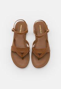 Anna Field Wide Fit - T-bar sandals - cognac - 5
