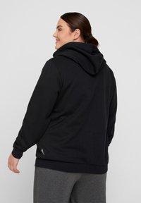 Active by Zizzi - Zip-up sweatshirt - black - 2