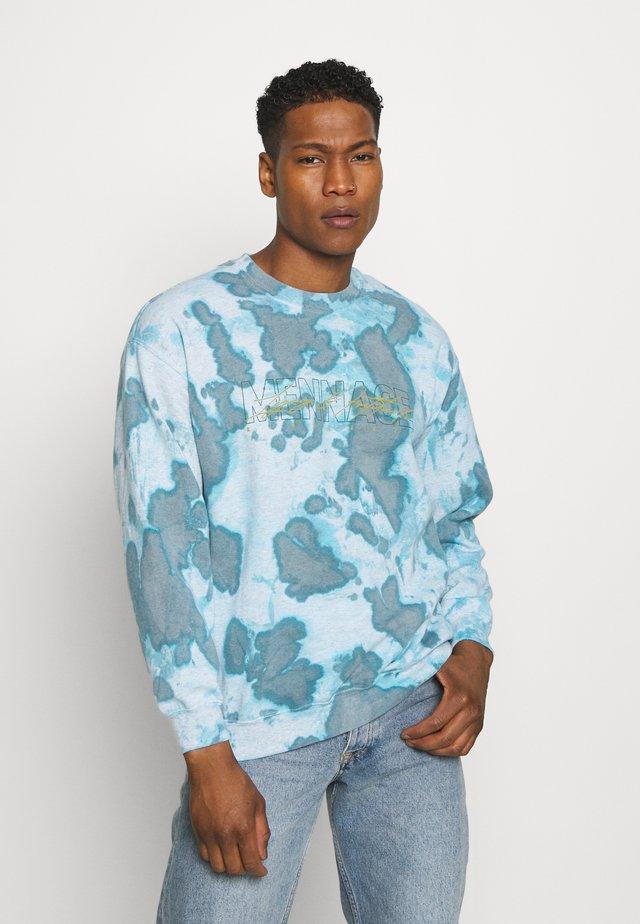 MENNACE TRACK LEGACY TIE DYE REGULAR - Sweatshirt - blue