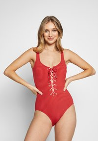 MICHAEL Michael Kors - SOLID UP ONE PIECE - Swimsuit - persimmon - 0