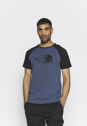 RAGLAN EASY TEE - T-shirt z nadrukiem - vintage indigo
