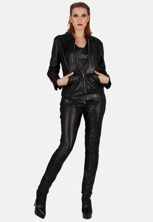 Leather trousers - schwarz