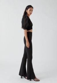 PULL&BEAR - Pantalon classique - mottled black - 3