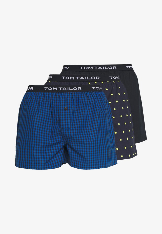 3 PACK - Trenýrky - dark blue/black