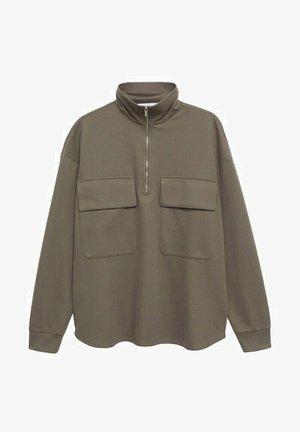 MIT TASCHE - Sweatshirt - khaki