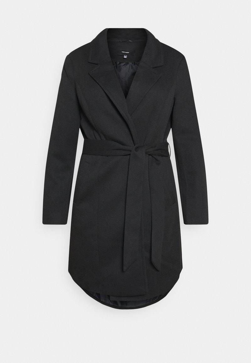 Vero Moda Curve - VMVERODONNA TRENCHCOAT CURVE - Zimní kabát - black