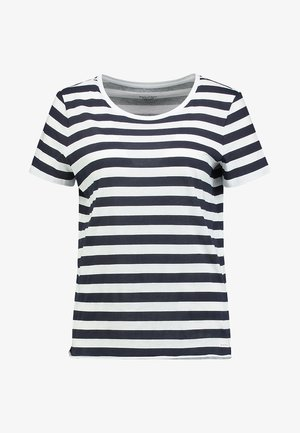STRIPED - T-shirt z nadrukiem - blue/white