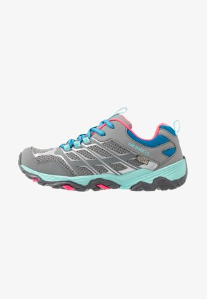 MOAB FST LOW WTRPF - Hiking shoes - grey/turquoise/pink