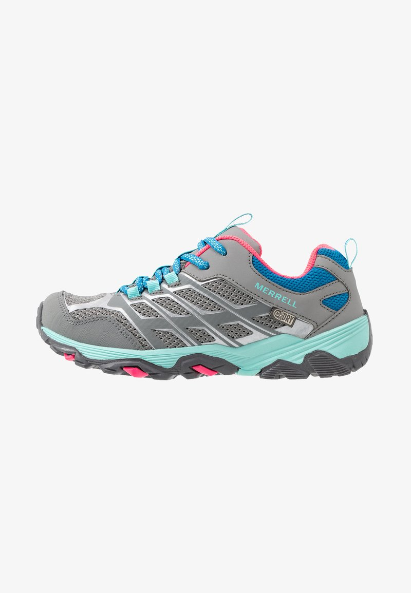 Merrell - MOAB FST LOW WTRPF - Hiking shoes - grey/turquoise/pink