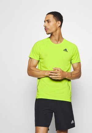 ADI RUNNER TEE - Print T-shirt - green