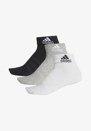 3 PACK - Träningssockor - grey/white/black