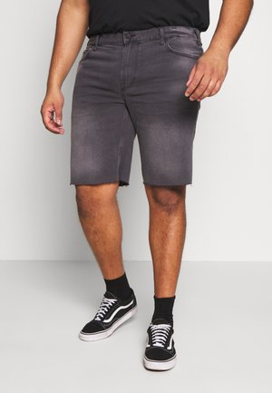 ONSPLY RAW HEM - Denim shorts - grey denim