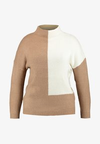 Simply Be - ELEVATED ESSENTIALS HIGH NECK JUMPER - Neule - camel/ivory - 3