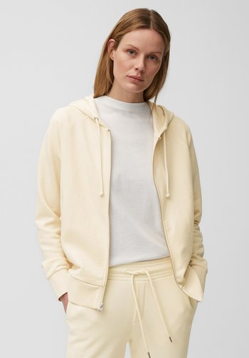 Zip-up sweatshirt - raw cream