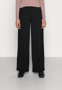 Selected Femme - SLFTINNI WIDE PANT - Kalhoty - black - 0