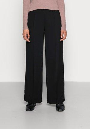 SLFTINNI WIDE PANT - Kalhoty - black