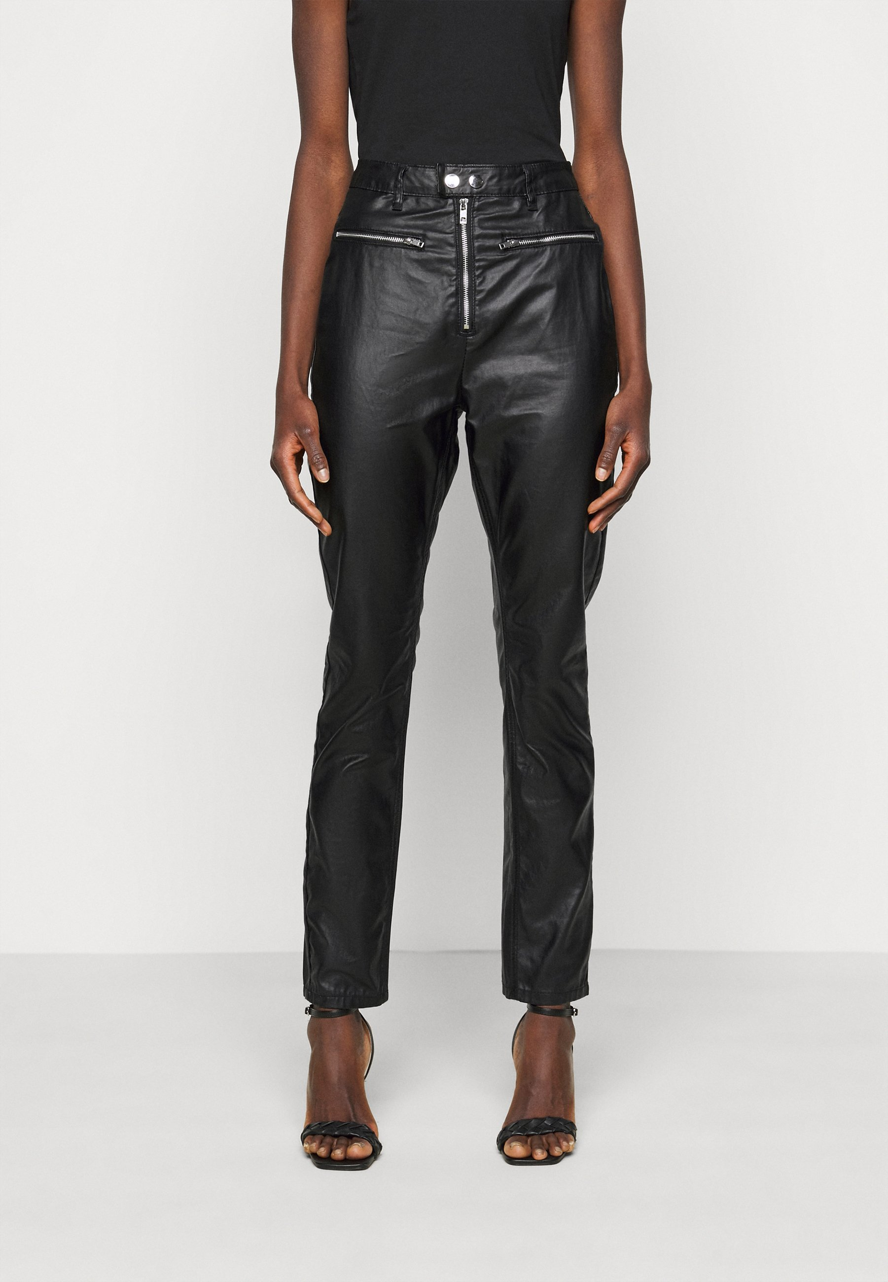 Women COATED WRATH WITH ZIP DETAIL - Straight leg jeans