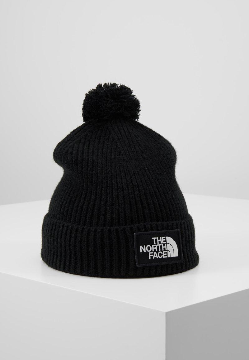 The North Face - LOGO BOX POM BEANIE UNISEX - Beanie - black
