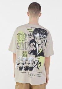Bershka - Print T-shirt - beige - 2