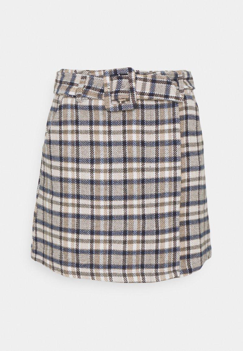 Fashion Union - KENE SKIRT - Mini skirt -  light brown