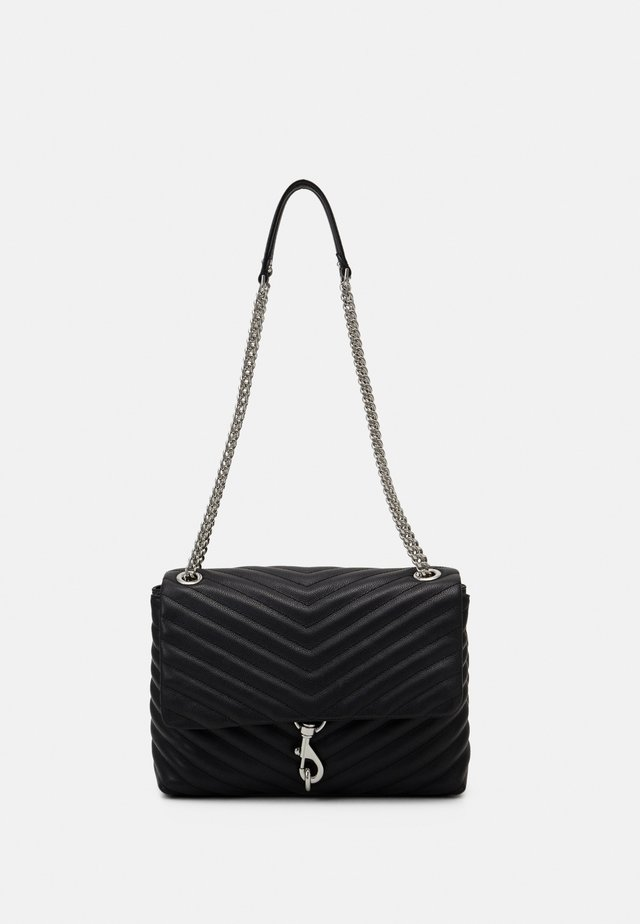 EDIE FLAP SHOULDER - Borsa a mano - black