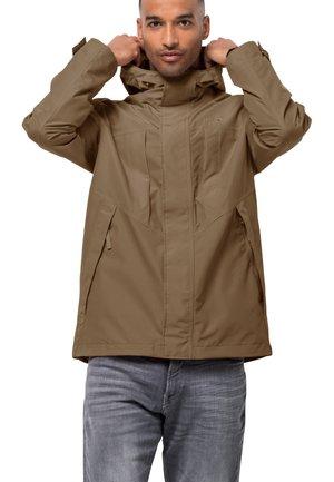 BALDOCK - Waterproof jacket - dark sand