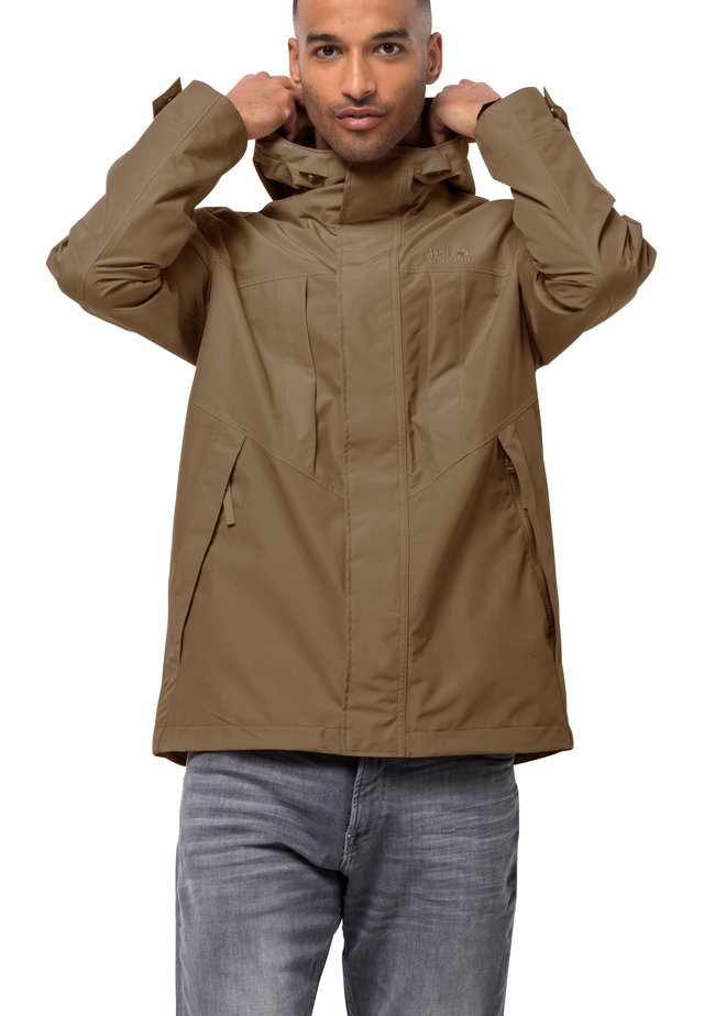 BALDOCK - Waterproof jacket - dark sand