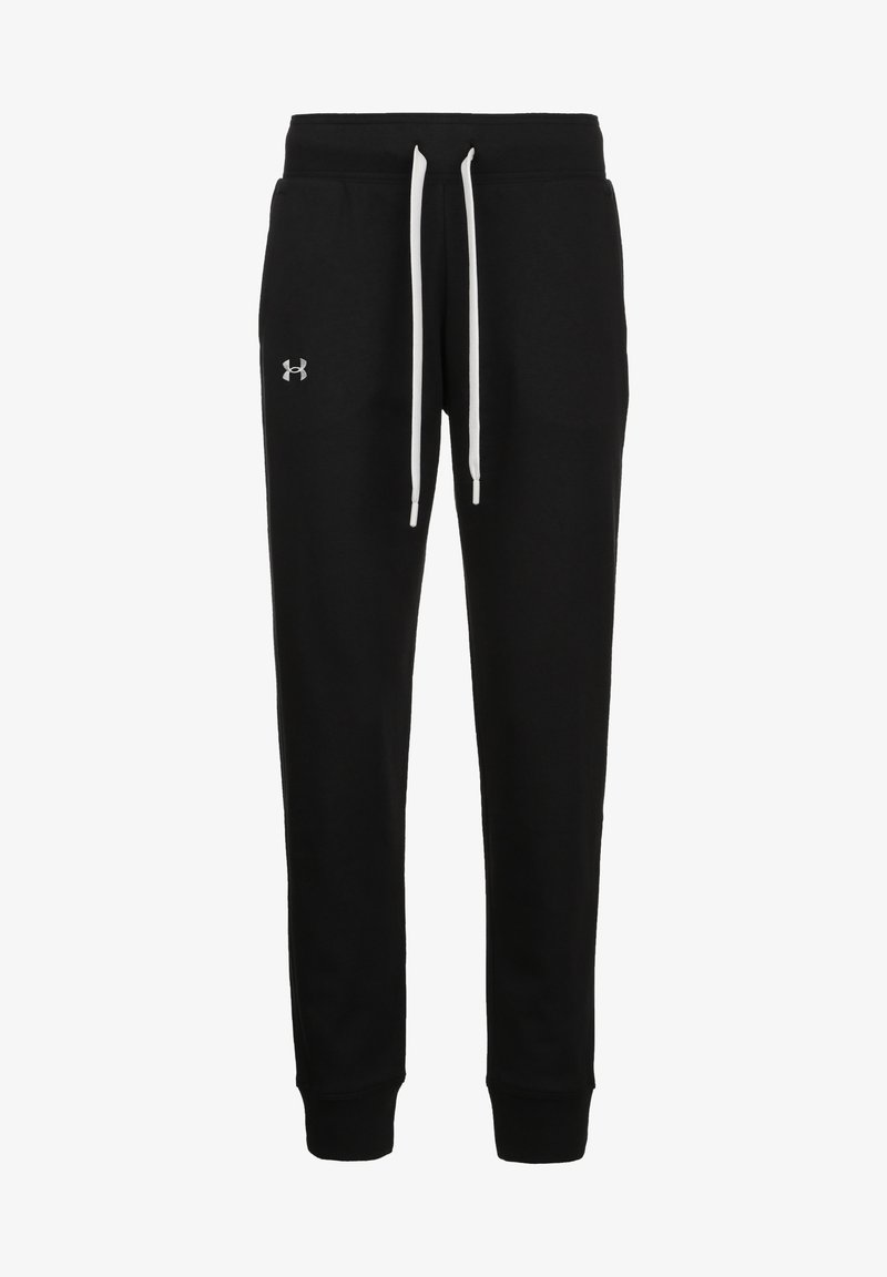 Under Armour - Tracksuit bottoms - black / white
