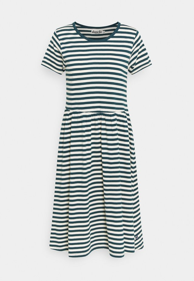 NIELSEN DRESS - Vapaa-ajan mekko - dusty navy/chalk