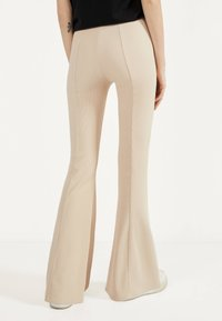 Bershka - Trousers - white - 2